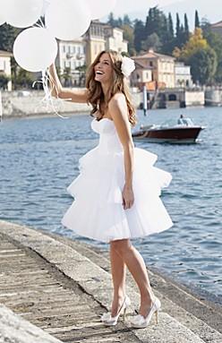 skor till bröllopsklänning