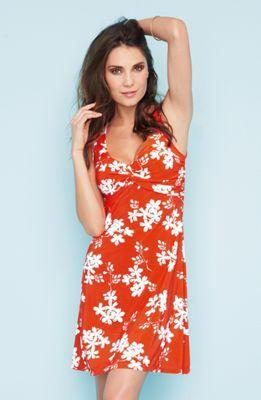 oranžové dámské šaty