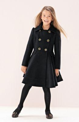 dětský černý kabát