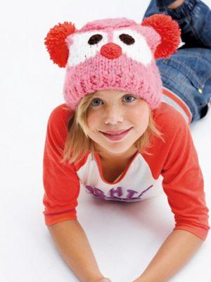 růžová dětská čepice