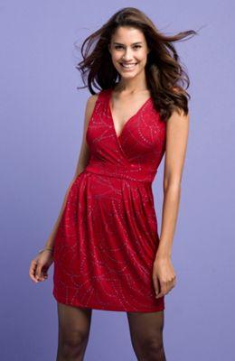 Velmi levné dámské červené šaty Halens.