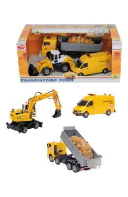 hračkářská souprava stavebních vozidel